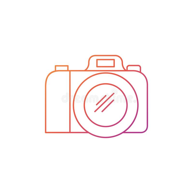 Silhouet van fotografisch camera geïsoleerd pictogram royalty-vrije illustratie