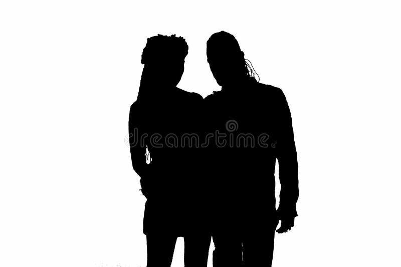 Silhouet Van Gotisch Paar Royalty-vrije Stock Foto's