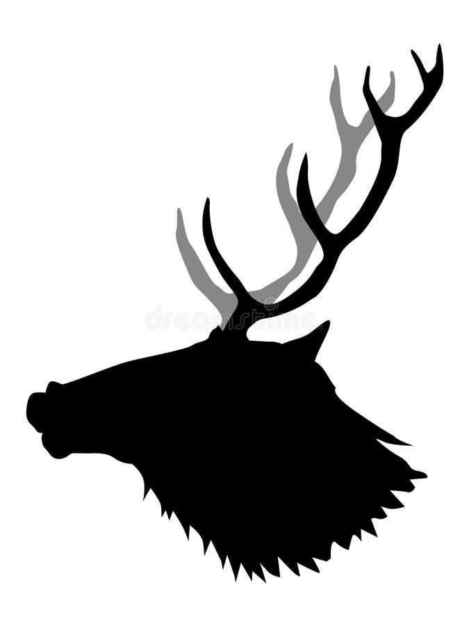 Silhouet van herten royalty-vrije illustratie