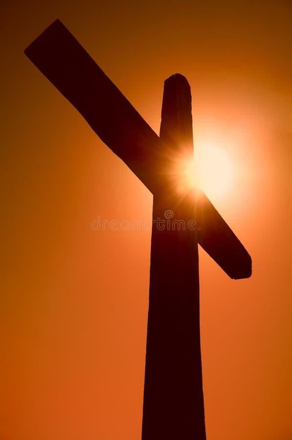 Silhouet Van Het Kruis Royalty-vrije Stock Afbeelding