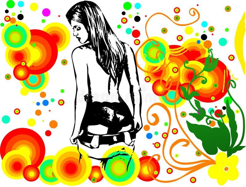 Silhouet van het Meisje in Stroom stock foto