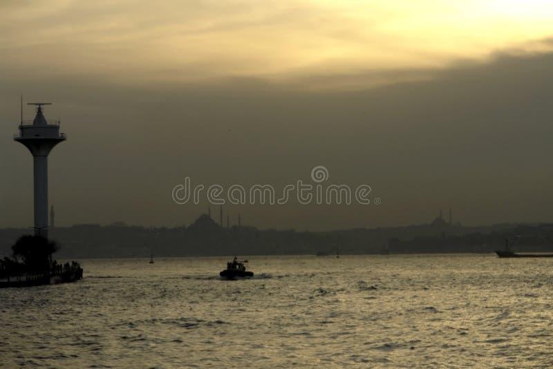 Silhouet van Istanboel royalty-vrije stock afbeelding