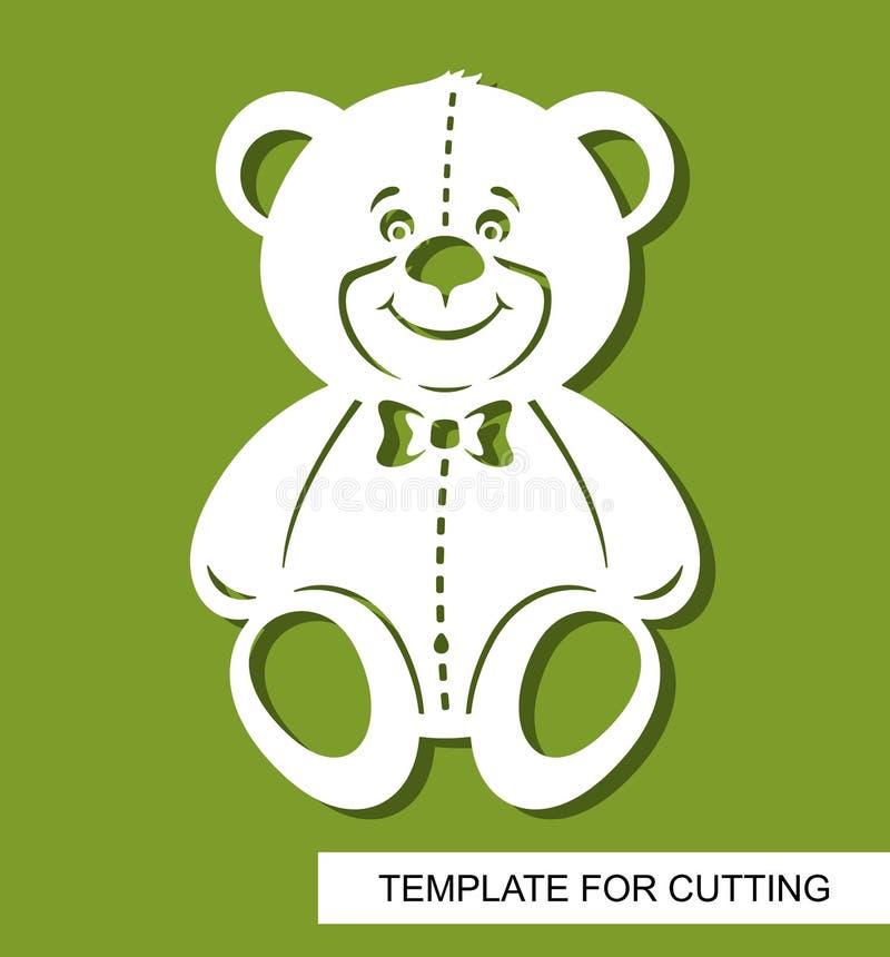 Silhouet van leuke Teddybeer Decor voor de ruimte van kinderen stock illustratie