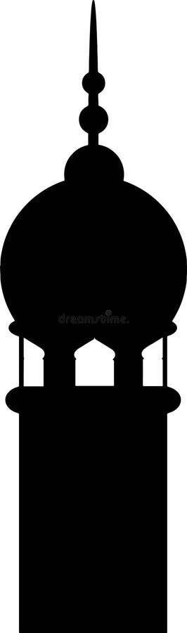 Silhouet van minaret Vector illustratie vector illustratie