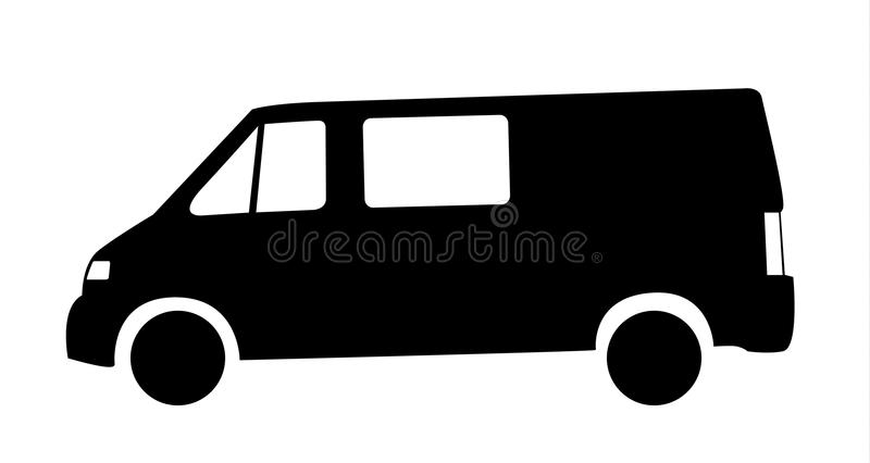 Silhouet van van car vector illustratie