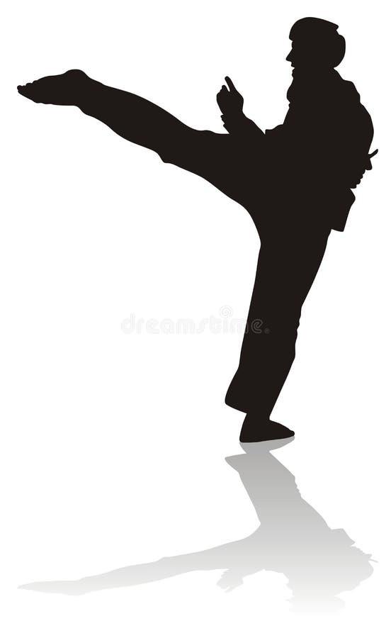 Silhouet van vechtsporten royalty-vrije illustratie