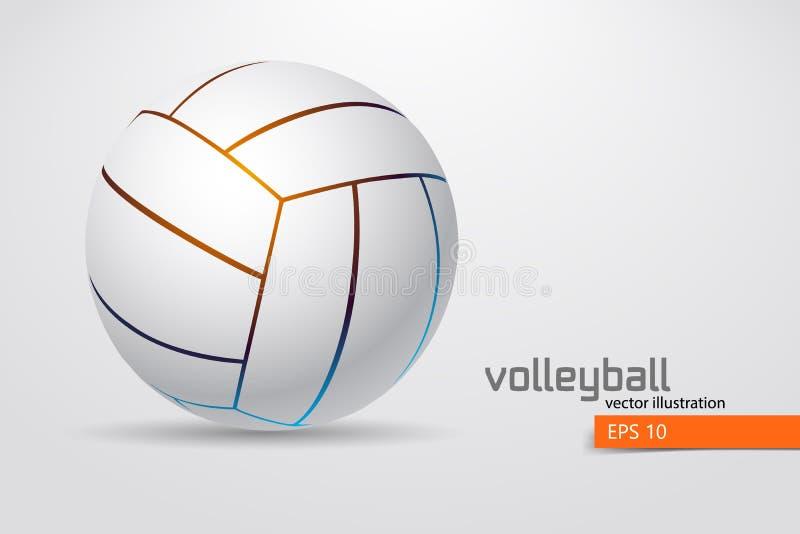 Silhouet van volleyballbal