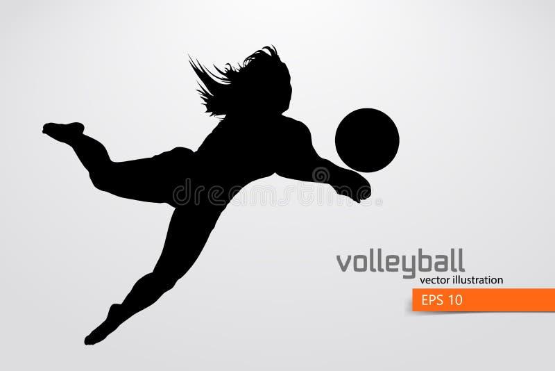 Silhouet van volleyballspeler