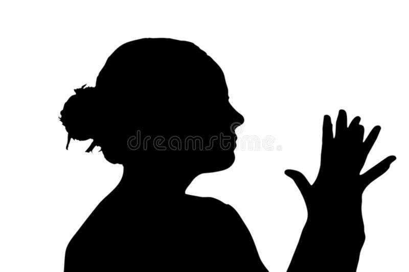 Silhouet van vrouw royalty-vrije stock afbeeldingen