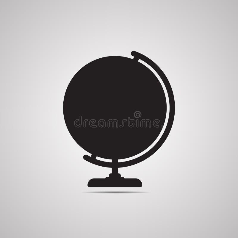 Silhouet vlak pictogram, eenvoudig vectorontwerp met schaduw Bol vector illustratie