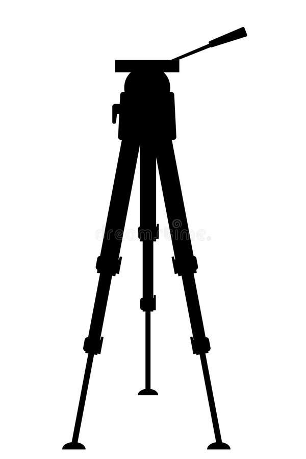 Silhouetdriepoot voor fotografie of videocamera vector illustratie