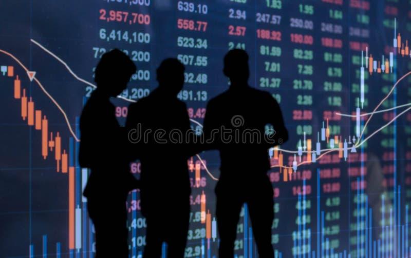 Silhouetfoto van zakenman en onderneemster royalty-vrije stock fotografie
