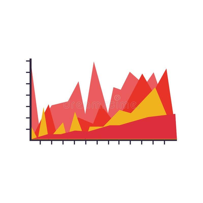 Silhouetkleur met grafische Statistieken vector illustratie