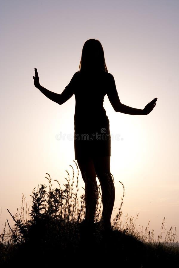 silhouette arkivfoto