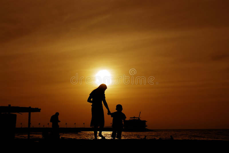 Silhouette photo stock