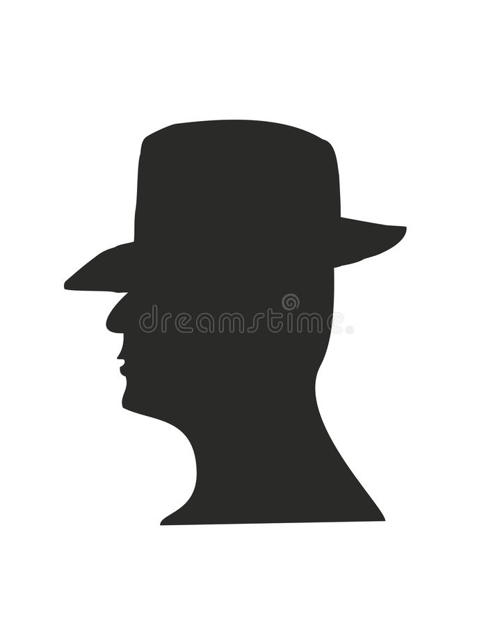 Download Silhouette stock vector. Illustration of head, face, adult - 22335842