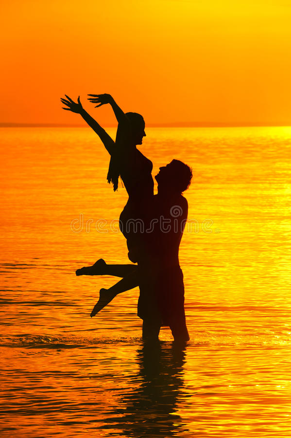 Silhouette photographie stock