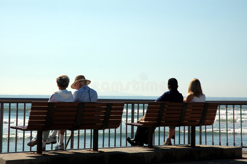 Silhouette of 4 people royalty free stock photography