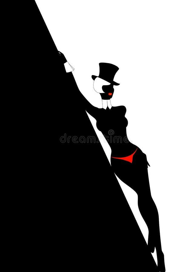 silhouette royaltyfri illustrationer