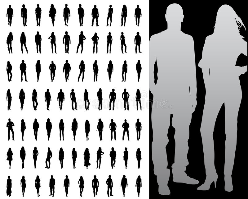 Silhouette vector illustration