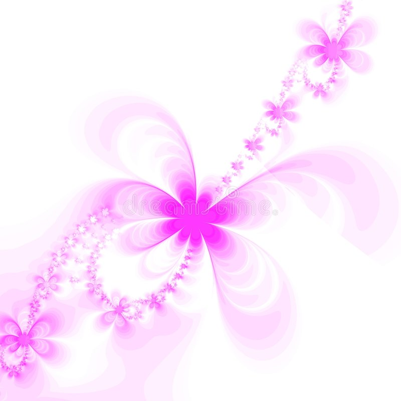 Silhouette of abstract flowers royalty free stock photography
