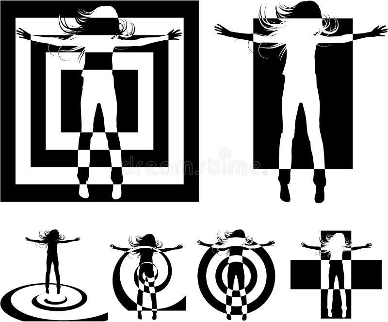 Silhouette abstraite illustration libre de droits