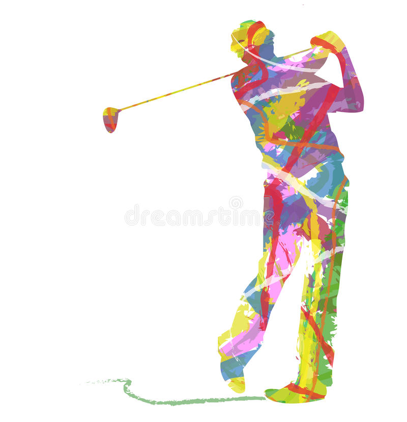 Silhouette abstraite de sport de golf illustration stock