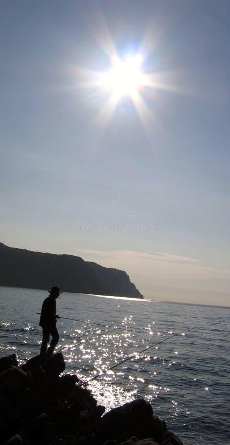 Silhouette active photo stock