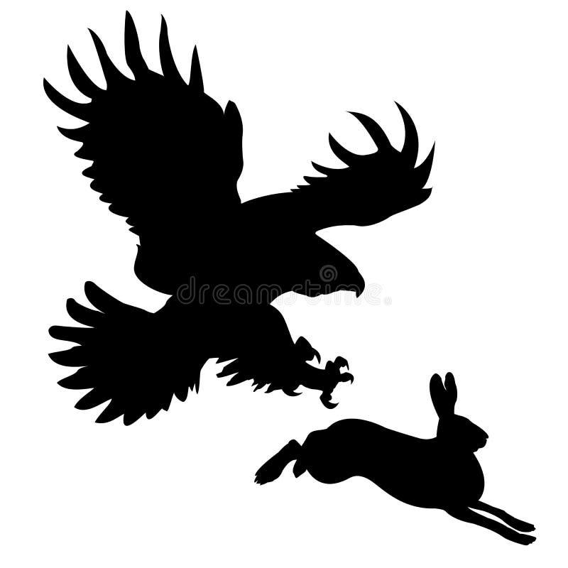 Silhouette animal royalty free illustration