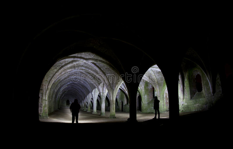 Silhouette in the arches royalty free stock images