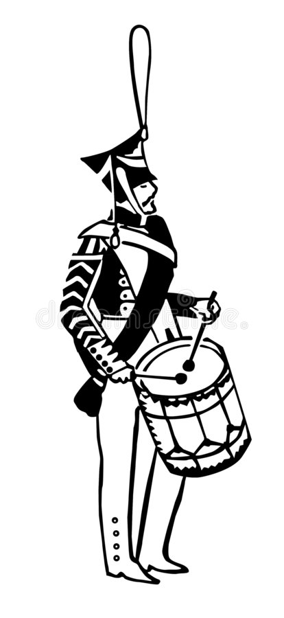 Download Silhouette Of The Army Drummer Stock Vector - Illustration: 6726073