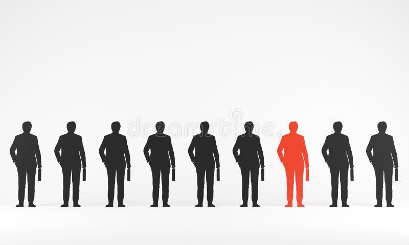 Silhouette av en affärsman royaltyfri illustrationer
