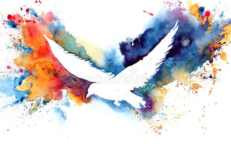 Silhouette av fågeln stock illustrationer