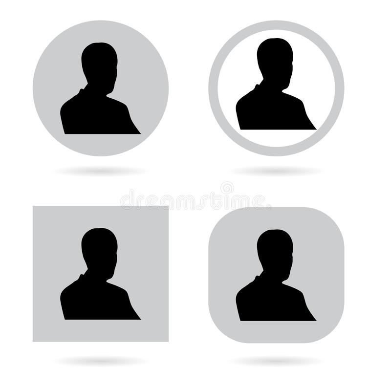 Silhouette avatar set. Person avatars office professional profiles. On white royalty free illustration