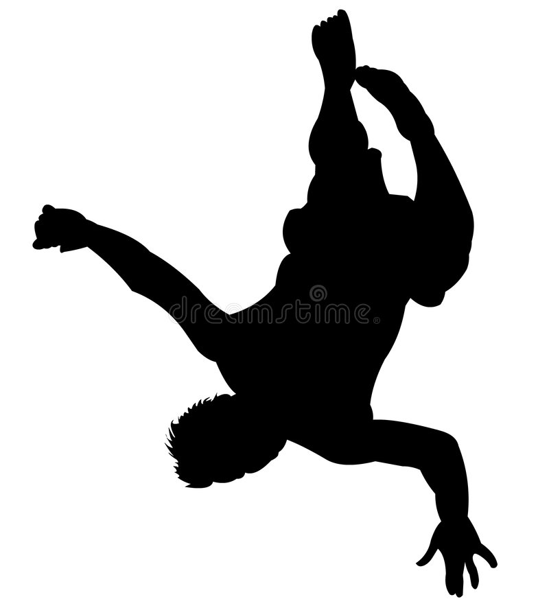 Silhouette - Back Flip royalty free illustration