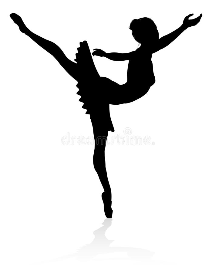 Silhouette Ballet Dancer vector illustration