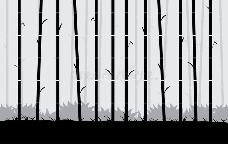 Download Silhouette Bamboo Vector Background. Stock Vector - Image: 83704288