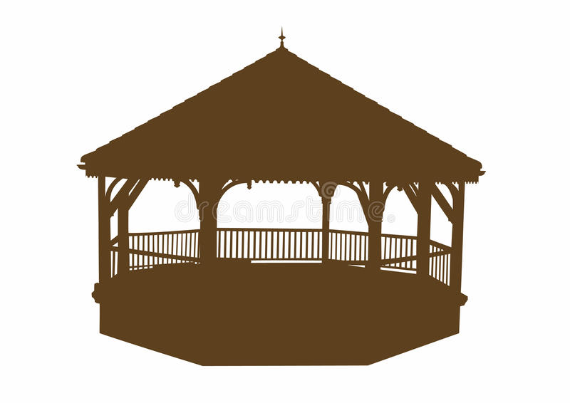 Silhouette of a bandstand vector illustration