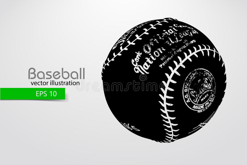 Silhouette of a baseball ball. Vector illustration vector illustration