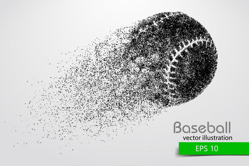 Silhouette of a baseball ball. Vector illustration. Silhouette of a baseball ball. Text on a separate layer, color can be changed in one click. Vector stock illustration