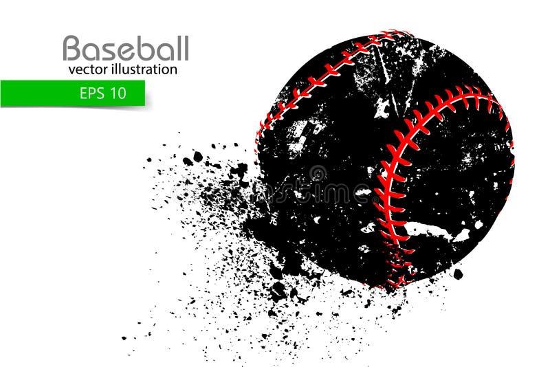 Silhouette of a baseball ball. Vector illustration royalty free illustration