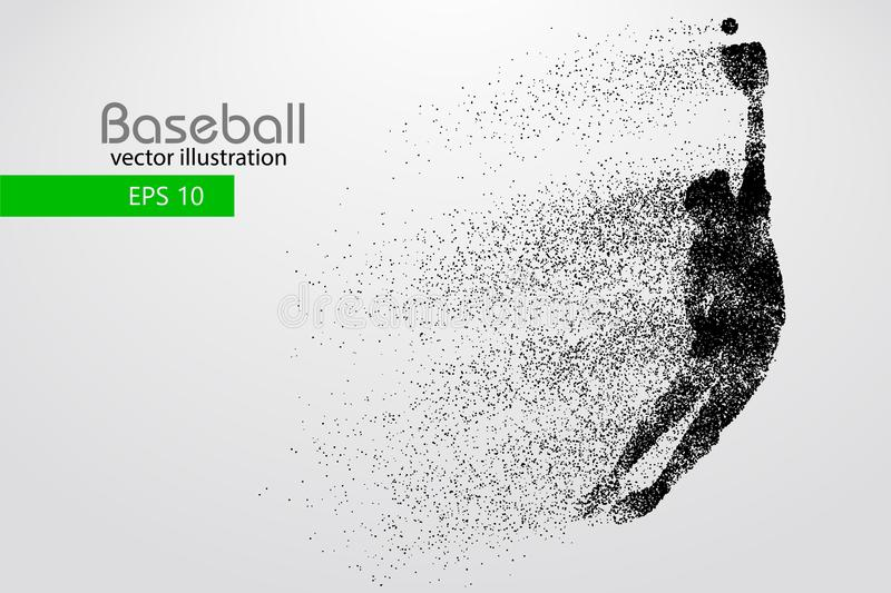 Silhouette of a baseball player. Vector illustration. Silhouette of a baseball player. Color can be changed in one click. Vector illustration