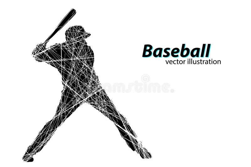 Silhouette of a baseball player. Vector illustration stock illustration
