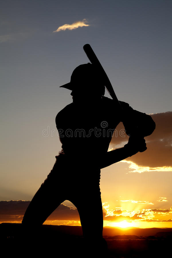 Download Silhouette Baseball Ready To Swing Sunset Stock Image - Image of jersey, batter: 15995369