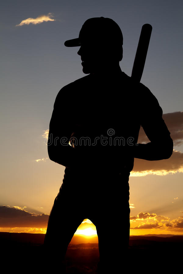 Download Silhouette Baseball Standing Sunset Stock Images - Image: 15995384