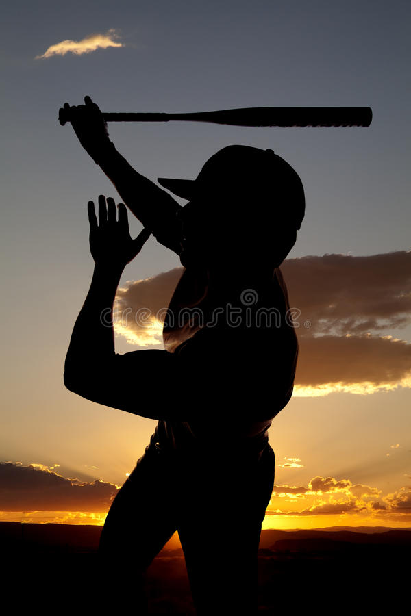 Download Silhouette Baseball Swing One Hand Sunset Stock Image - Image of gear, game: 15995405