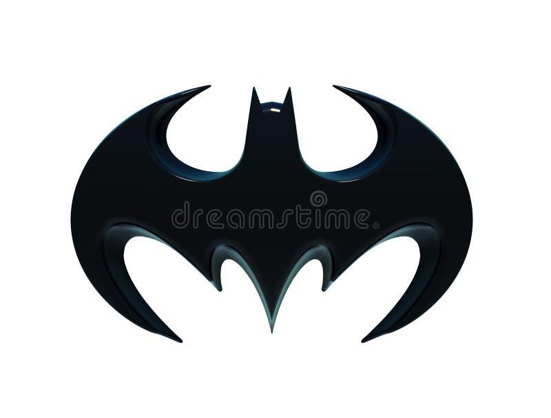 The silhouette of a bat, Batman logo. stock illustration