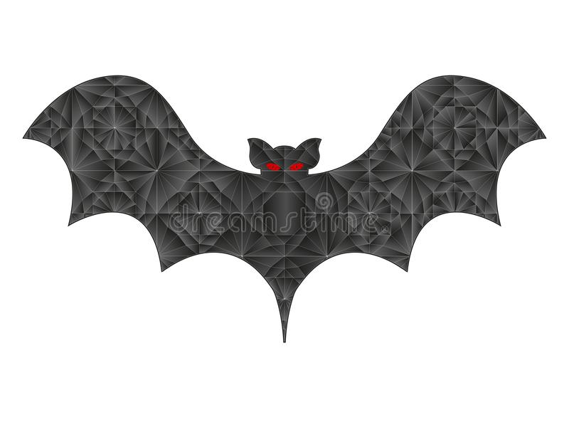 Crystallized Bat silhouette royalty free stock image