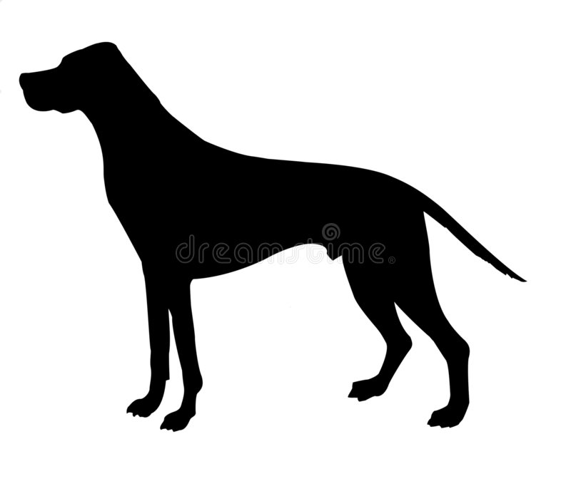 Silhouette beagle. Isolated on white background vector illustration