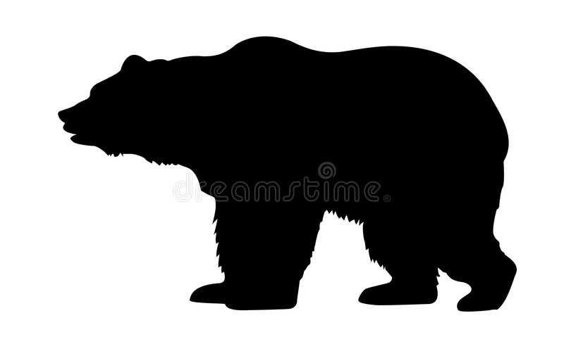 Silhouette bear royalty free illustration